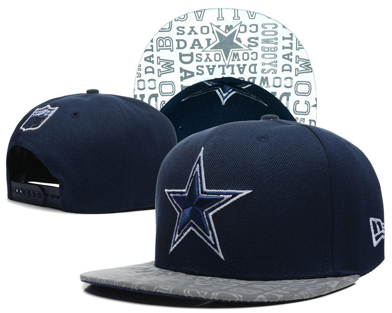 Dallas Cowboys 2014 Draft Reflective Blue Snapback Hat SD 0613