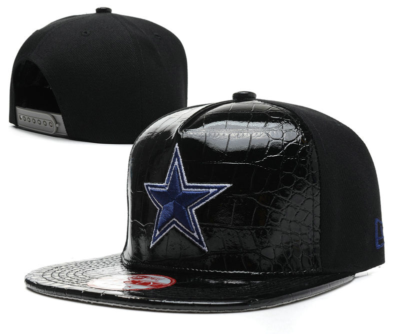 Dallas Cowboys Black Snapback Hat SD