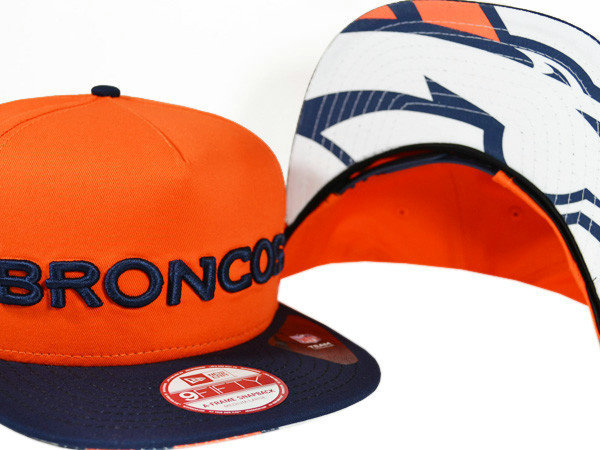 Denver Broncos Orange Snapback Hat XDF 0721