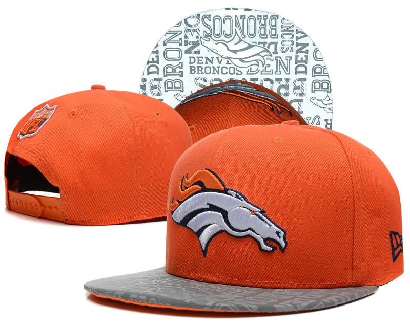 Denver Broncos 2014 Draft Reflective Orange Snapback Hat SD 0613
