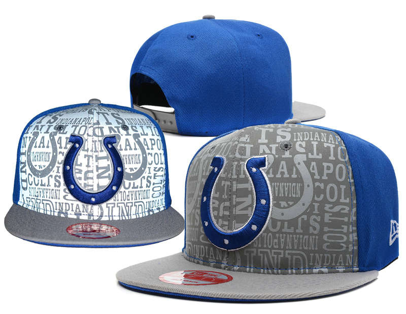 Indianapolis Colts 2014 Draft Reflective Snapback Hat SD 0613