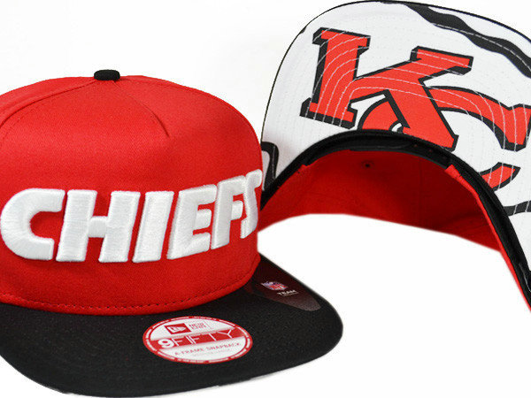 Kansas City Chiefs Red Snapback Hat XDF 0721