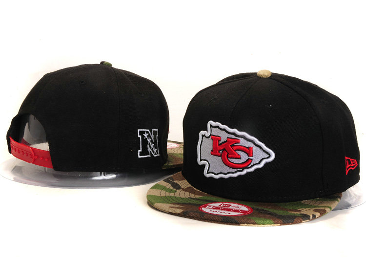 Kansas City Chiefs Black Snapback Hat YS