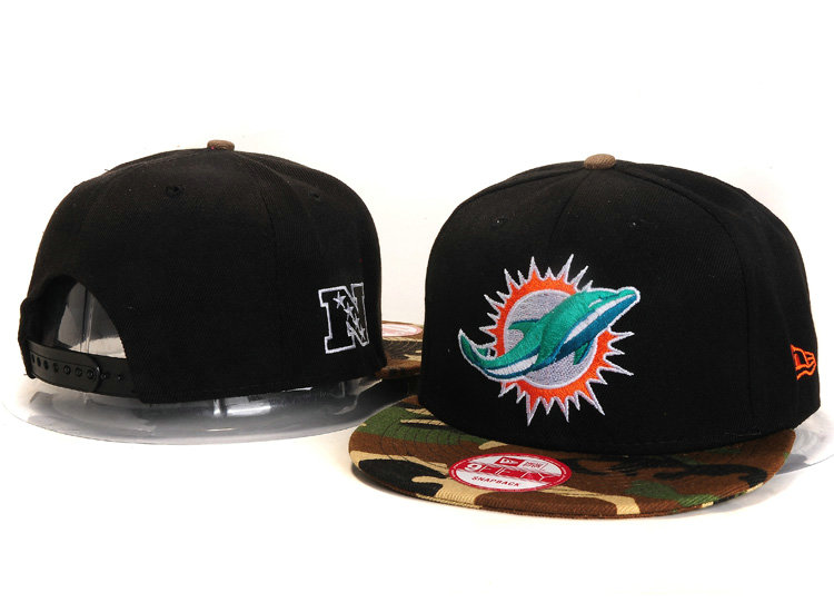 Miami Dolphins Black Snapback Hat YS