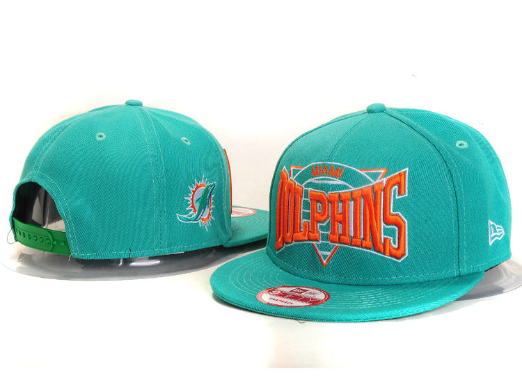 Miami Dolphins Green Snapback Hat YS