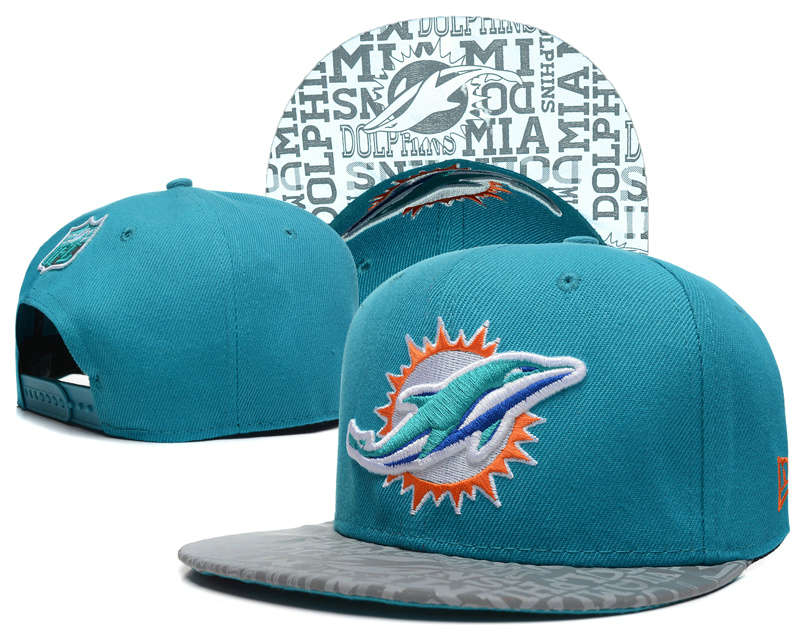 Miami Dolphins 2014 Draft Reflective Green Snapback Hat SD 0613