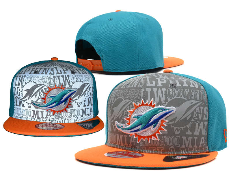 Miami Dolphins 2014 Draft Reflective Snapback Hat SD 0613