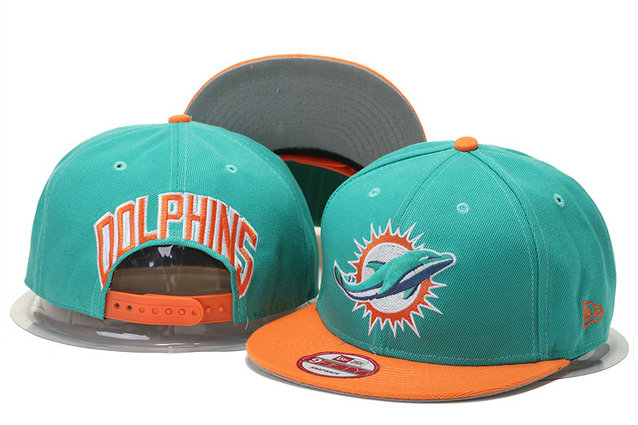 Miami Dolphins Snapback Green Hat GS 0620