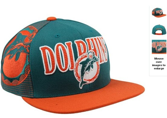 Miami Dolphins NFL Snapback Hat 60D4