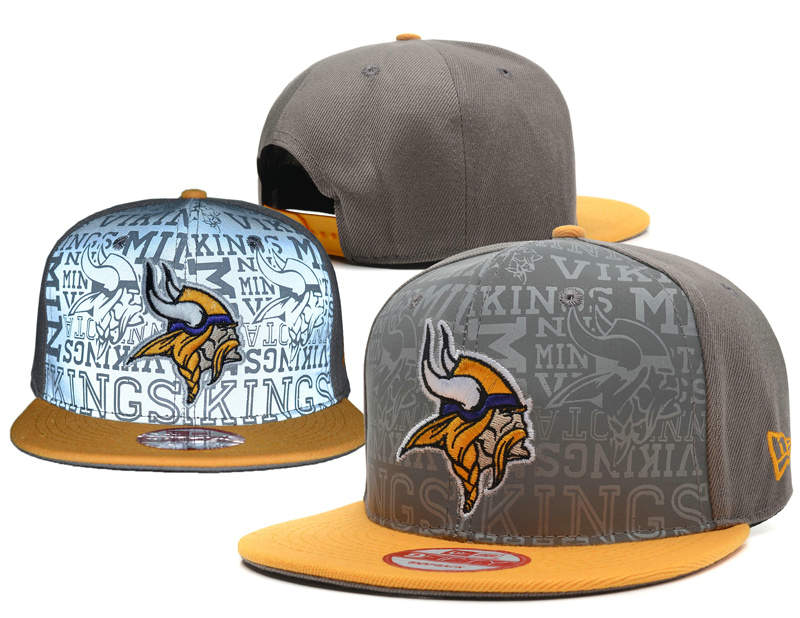 Minnesota Vikings 2014 Draft Reflective Grey Snapback Hat SD 0701