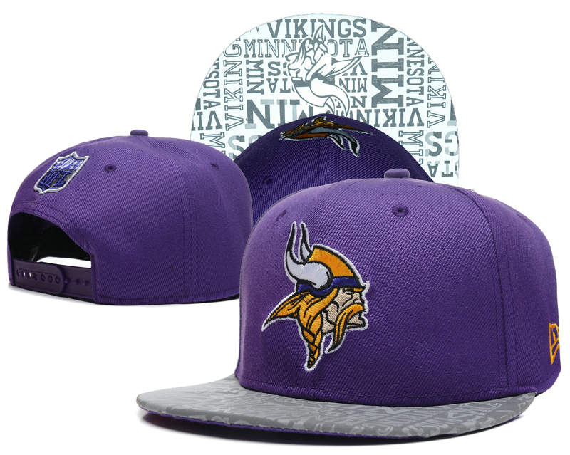 Minnesota Vikings 2014 Draft Reflective Purple Snapback Hat SD 0613