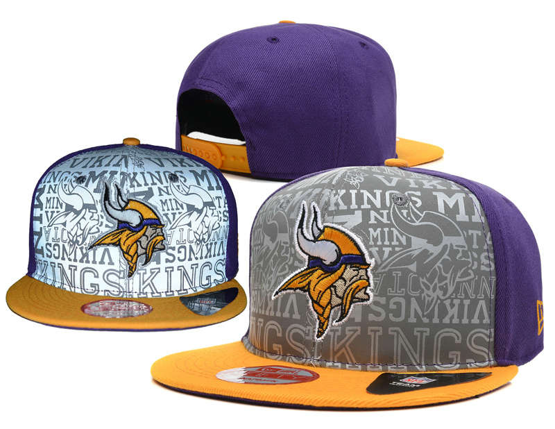 Minnesota Vikings 2014 Draft Reflective Snapback Hat SD 0613