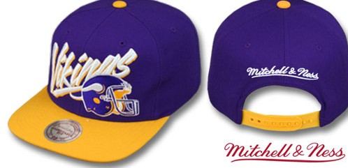 Minnesota Vikings NFL Snapback Hat Sf 3