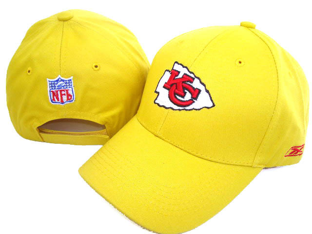 Kansas City Chiefs Yellow Peaked Cap DF 0512