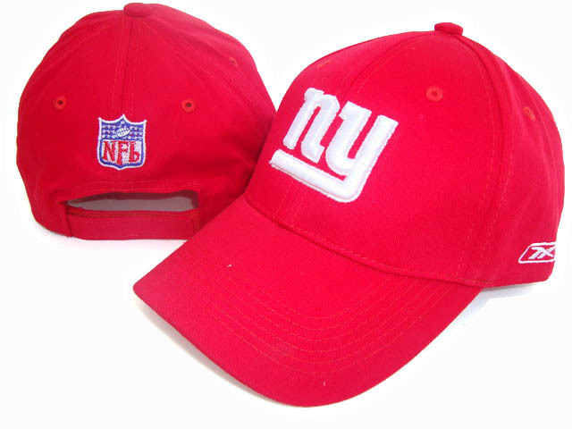 New York Giants Red Peaked Cap DF 0512