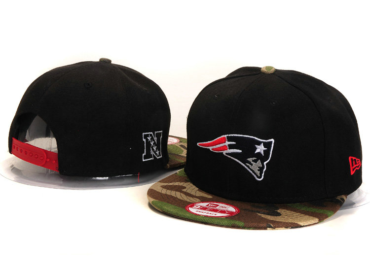 New England Patriots Black Snapback Hat YS