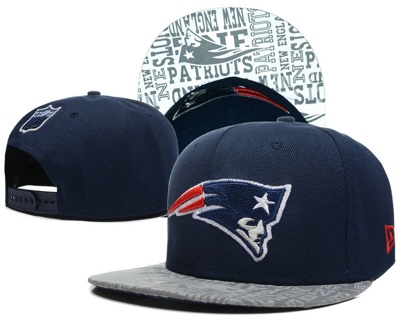 New England Patriots 2014 Draft Reflective Blue Snapback Hat SD 0613