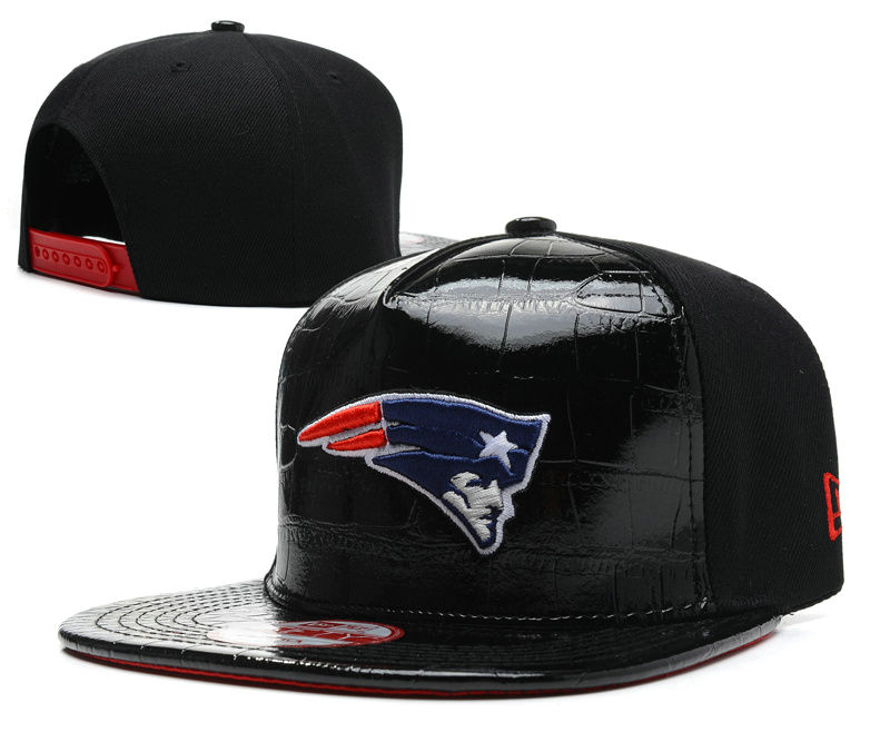 New England Patriots Black Snapback Hat SD