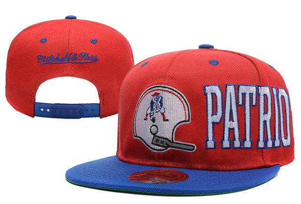 New England Patriots Snapback Red Hat LX 0620