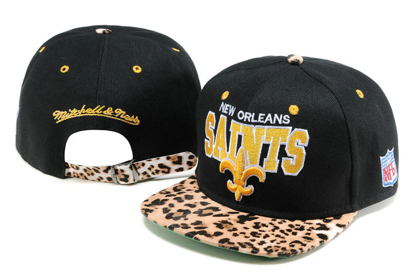 New Orleans Saints Black Snapback Hat TY