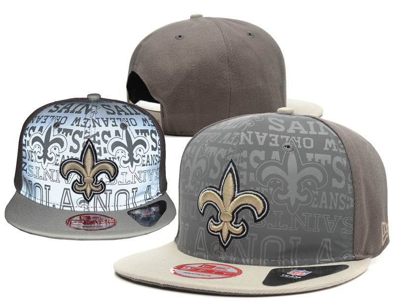 New Orleans Saints Reflective Snapback Hat SD 0721