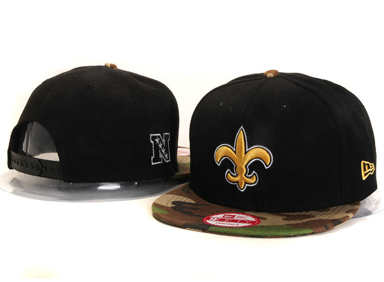 New Orleans Saints Black Snapback Hat YS 2