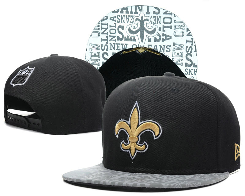New Orleans Saints 2014 Draft Reflective Black Snapback Hat SD 0613