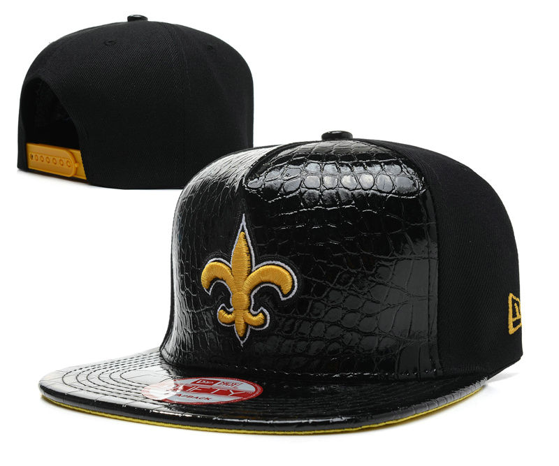 New Orleans Saints Black Snapback Hat SD