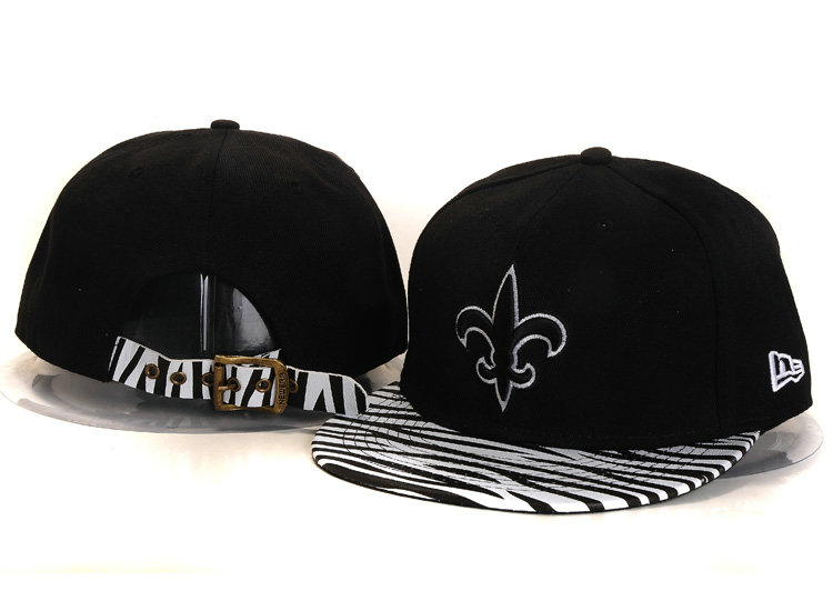 New Orleans Saints Black Snapback Hat YS 4