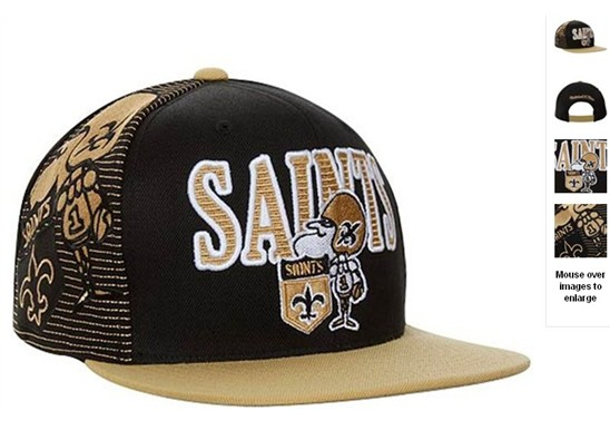 New Orleans Saints NFL Snapback Hat 60D2