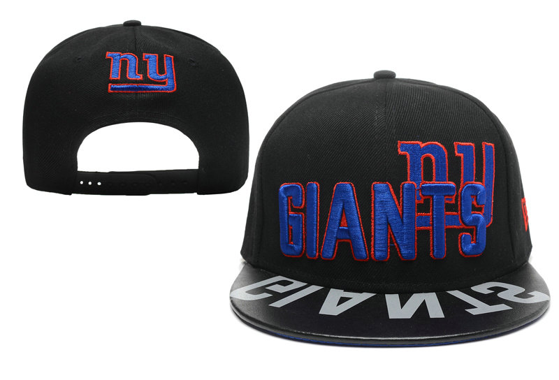 New York Giants Black Snapback Hat XDF 0512