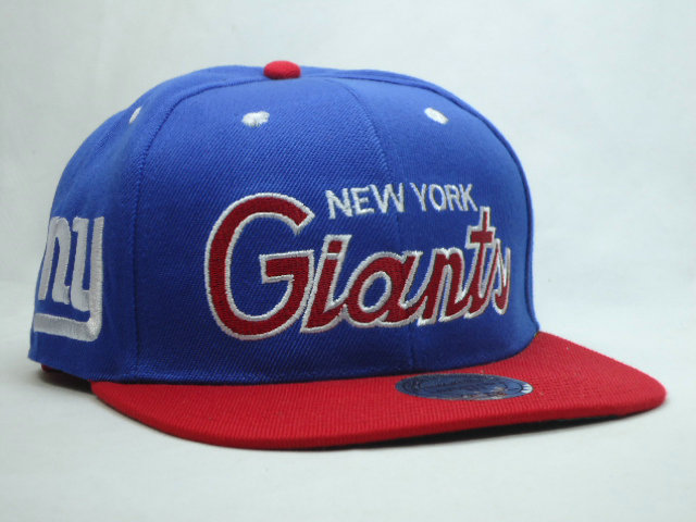 New York Giants Blue Snapback Hat YS