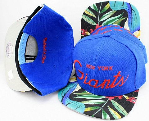 New York Giants Flower Bill Snapback Hat JT05