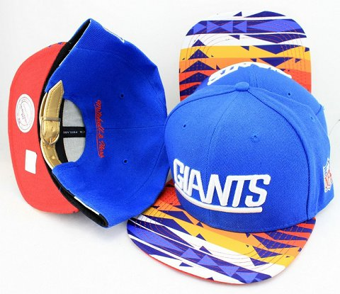 New York Giants Navajo Retro Bill Gold Leather Strap Back Hat JT15