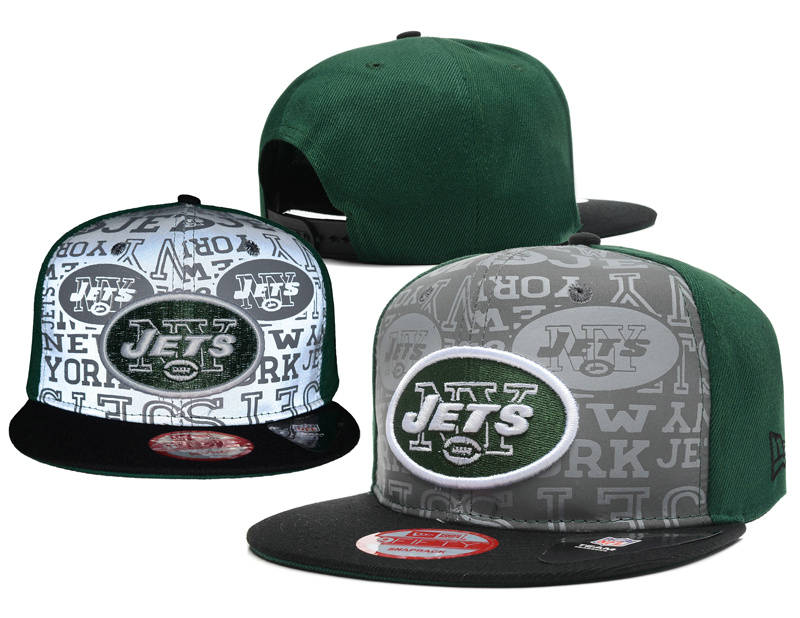 New York Jets 2014 Draft Reflective Snapback Hat SD 0613