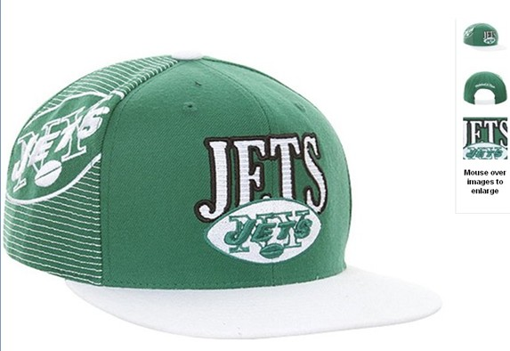 New York Jets NFL Snapback Hat 60D3