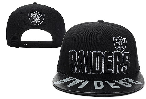 Oakland Raiders Black Snapback Hat XDF 0512