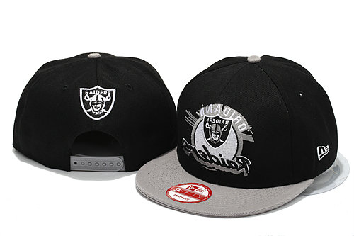 Oakland Raiders Black Snapback Hat YS 4