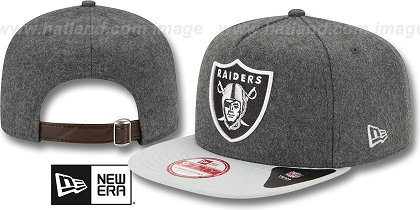 Oakland Raiders-Melton Snapback Hat SF 12