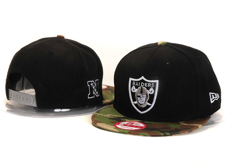 Oakland Raiders Black Snapback Hat YS