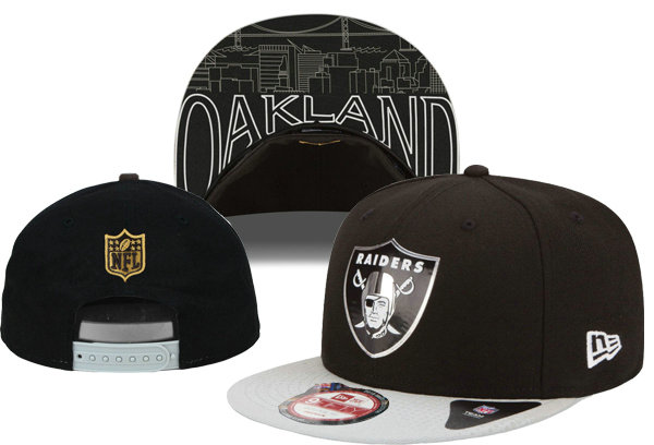 Oakland Raiders Snapback Black Hat XDF 0620