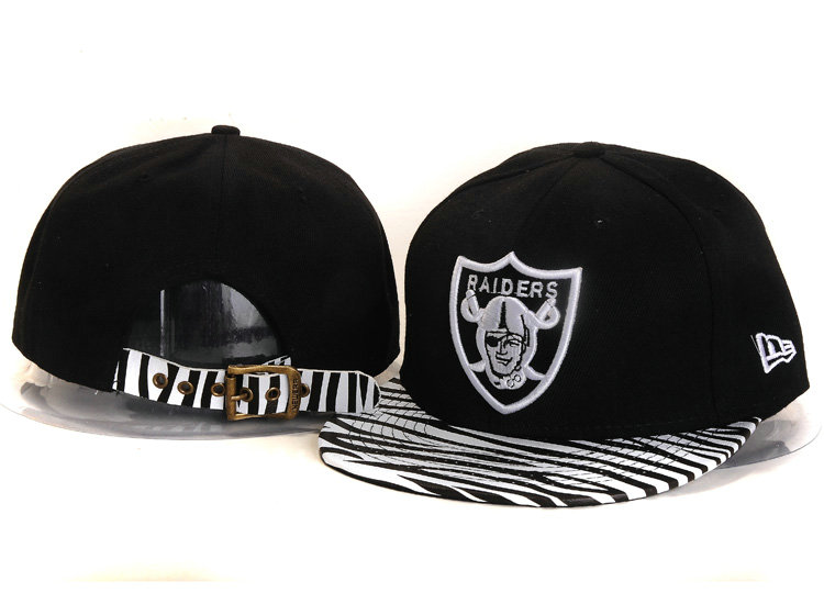 Oakland Raiders Black Snapback Hat YS 2