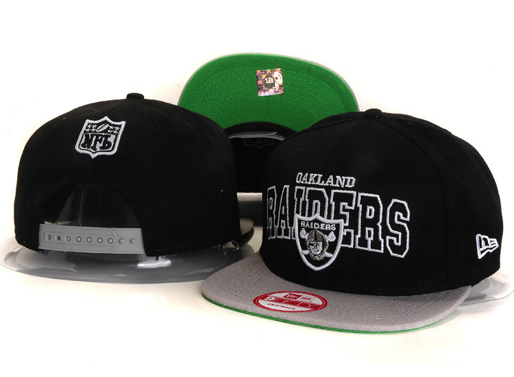 Oakland Raiders Black Snapback Hat YS 3