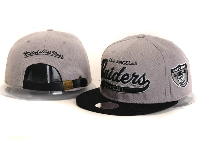 Oakland Raiders Grey Snapback Hat YS