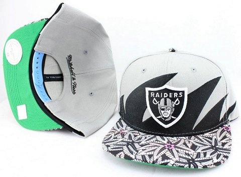 Oakland Raiders Flower Bill Snapback Hat JT16