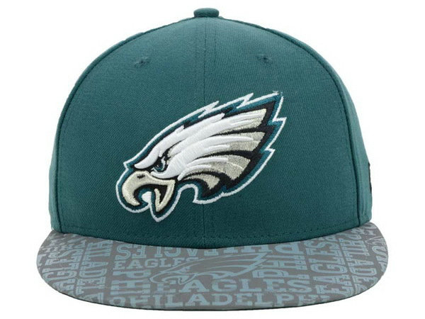 Philadelphia Eagles Green Snapback Hat XDF 0528