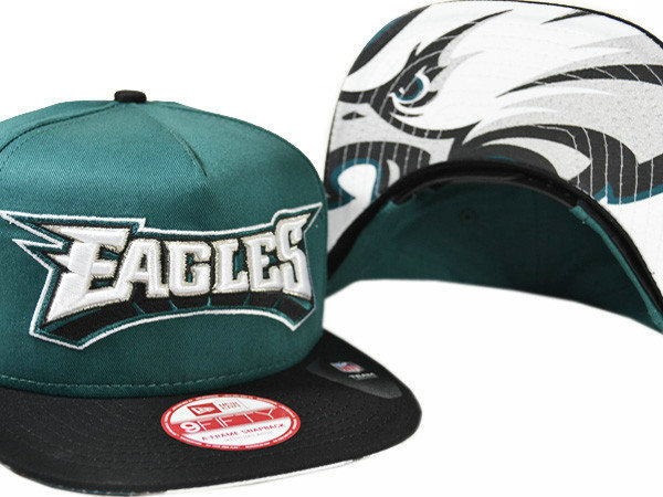 Philadelphia Eagles Green Snapback Hat XDF 0721