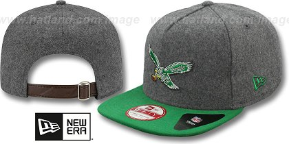 Philadelphia Eagles-Melton Snapback Hat SF 12