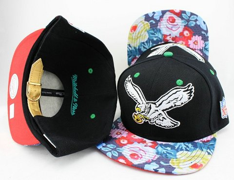 Philadelphia Eagles Navajo Retro Bill Gold Leather Strap Back Hat JT05