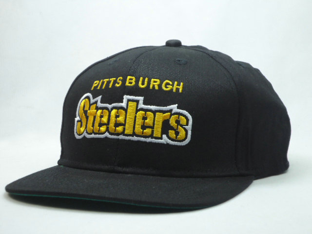 Pittsburgh Steelers Black Snapback Hat SF